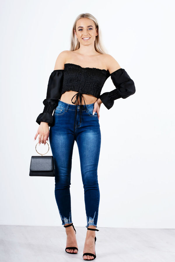 Black Harper Bardot Top