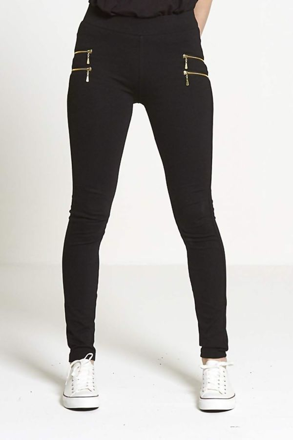 Black High Waisted Super Stretch Jegging Trouser Jeans