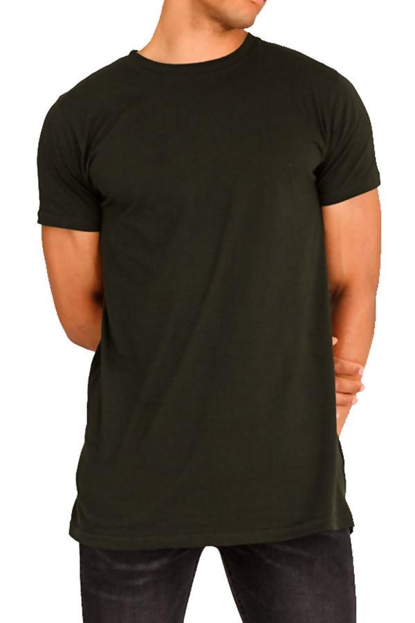 Black Longline Basic Block T-Shirt