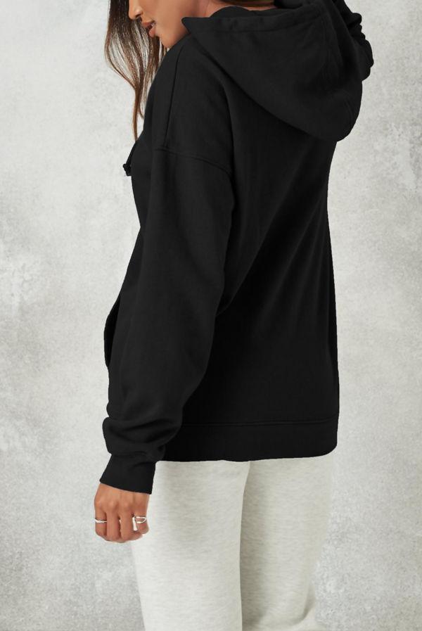 Black Los Angeles Oversized Fleece Hoodie