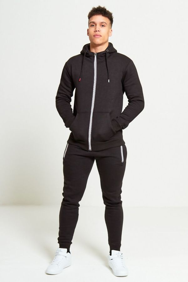 Black Multi Colored Zip Tracksuit