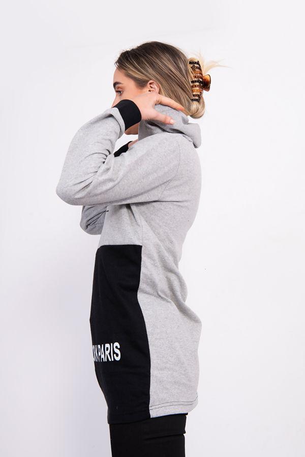 Black New York Chic Hooded Sweatshirt