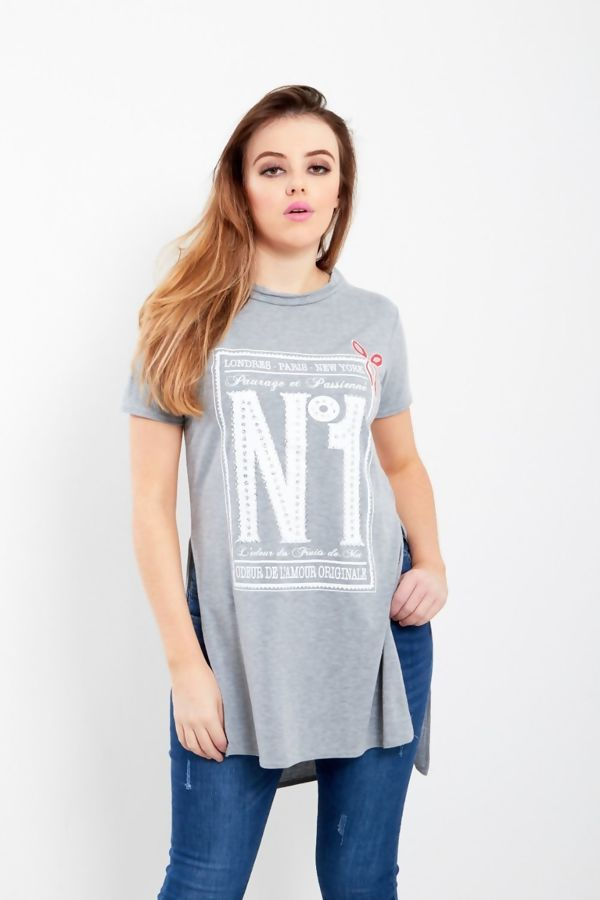 Black NO1 Side Split T-Top