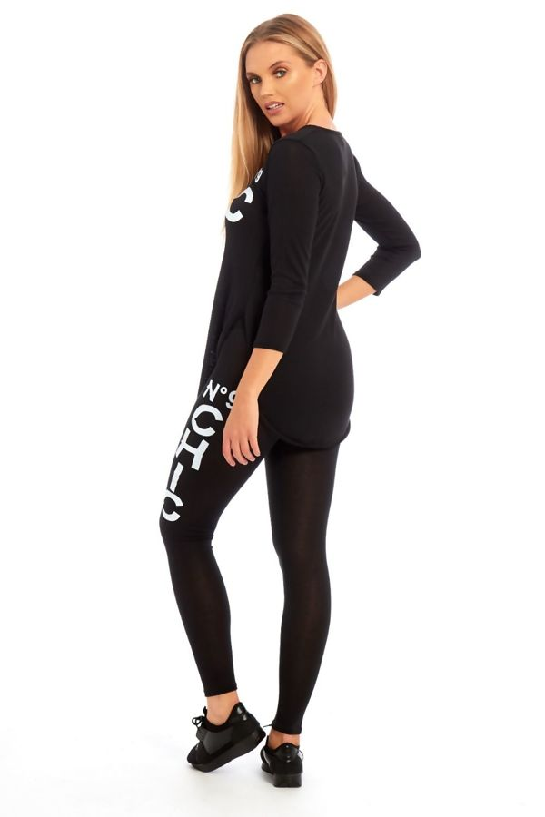 Black NO9 Chic Tracksuit