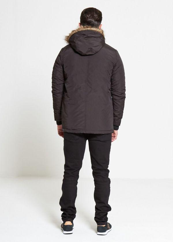 Black Noel Fur Hood Parka