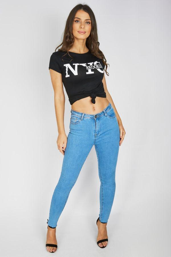 Black NYC Brooklyn T-Shirt Top