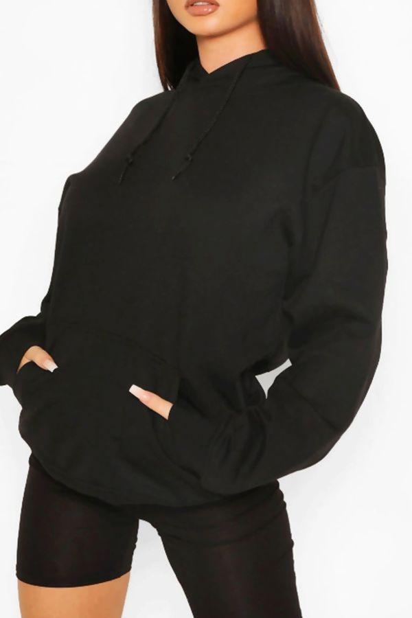 Black Oversized Recycled Hoodie