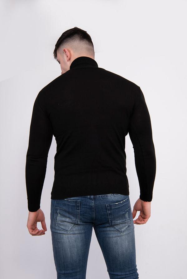 Black Polo Neck Jumper Size 2XL