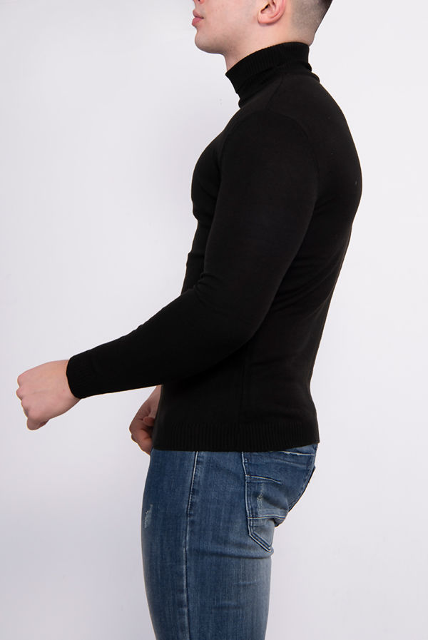 Black Polo Neck Jumper