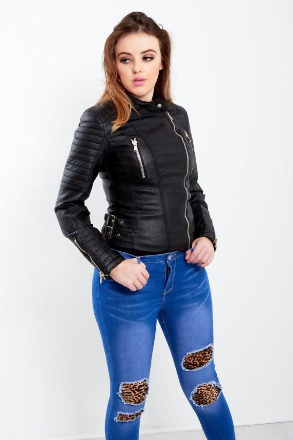 Black Premium Leather Biker Jacket