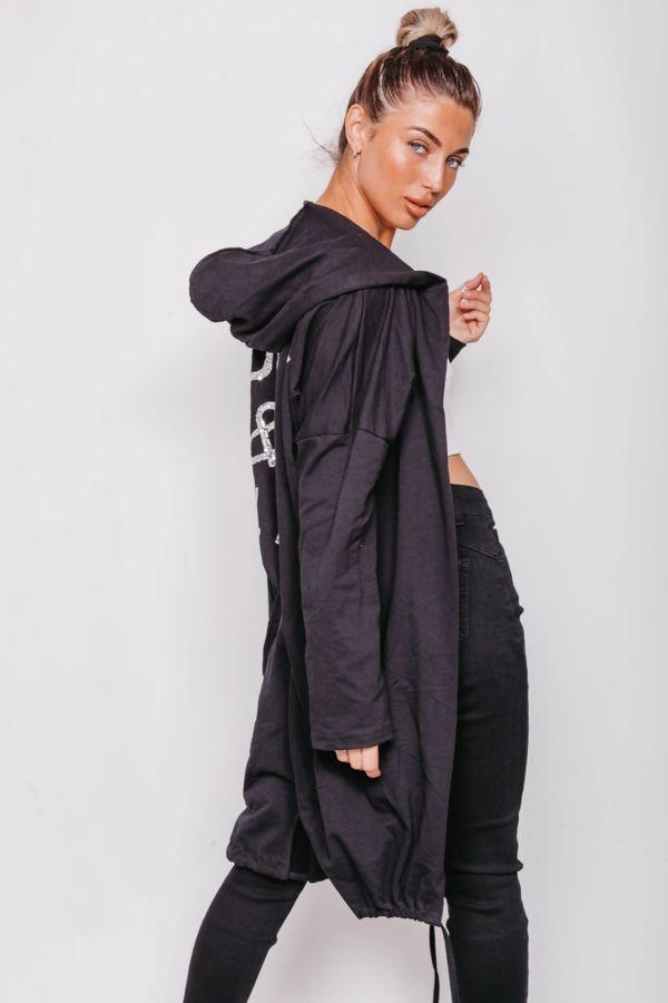 Sequin Rock & Roll Hooded Cardigan