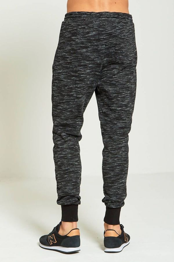 Black Space Dye Jogging Bottom