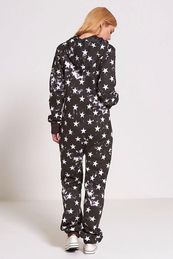 Black Star Print Onesie