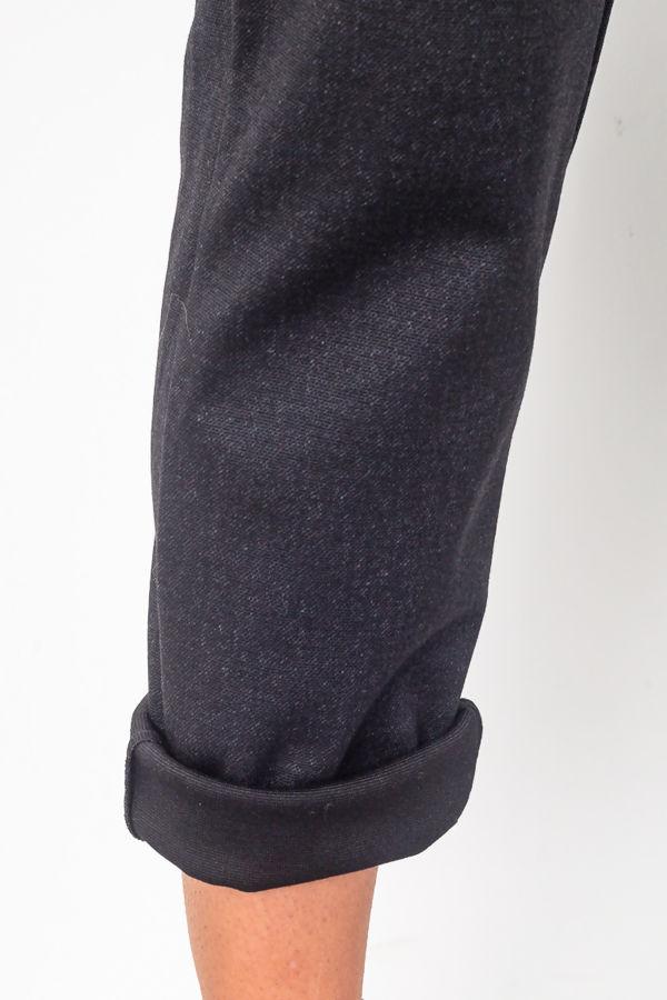 Black Tailored Hem Trouser