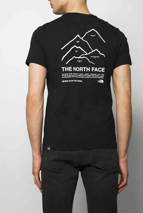 Black The North Face® Peaks Tee