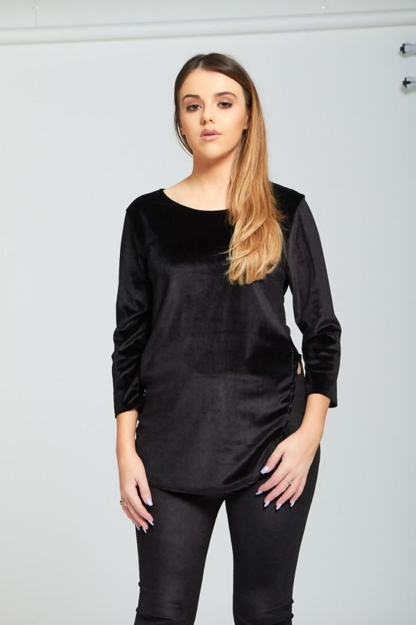 Black Velvet Look Loungewear set