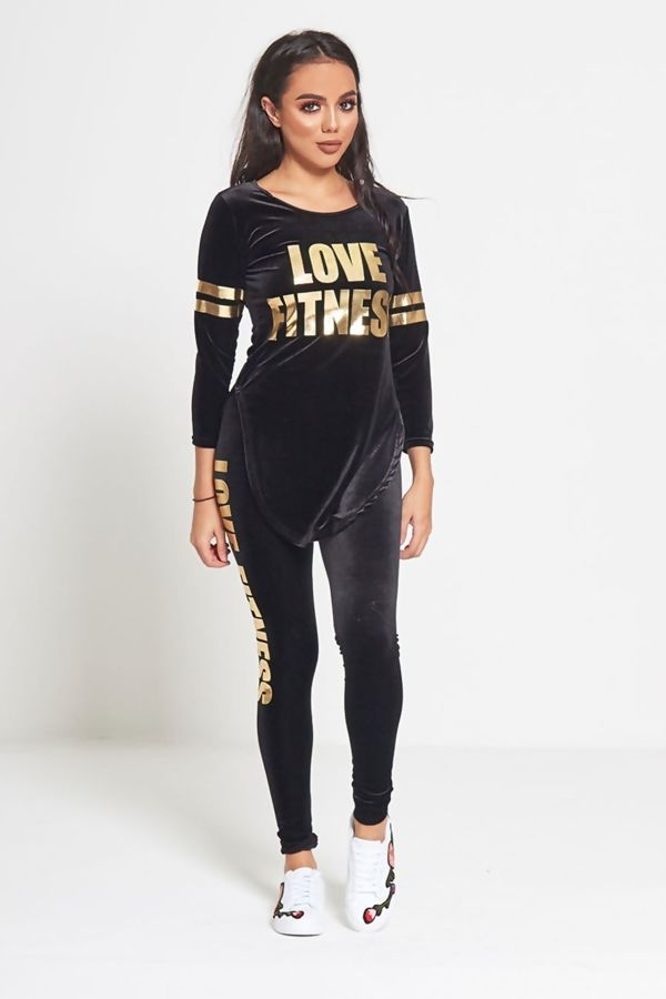 Black Velvet Love Fitness Tracksuit