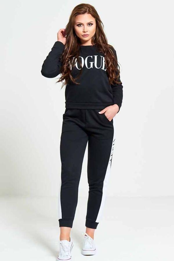 Black Vogue Tracksuit