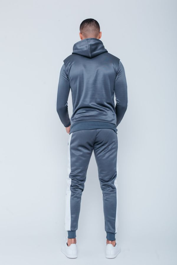 Black White Tape Pouch Pullover Tracksuit