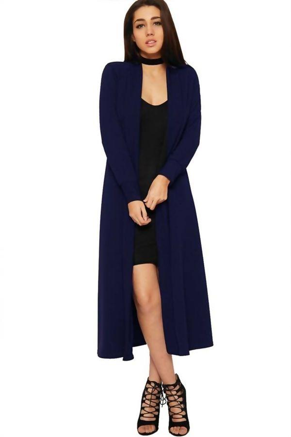 Block Royal Blue Saima Long Cardigan