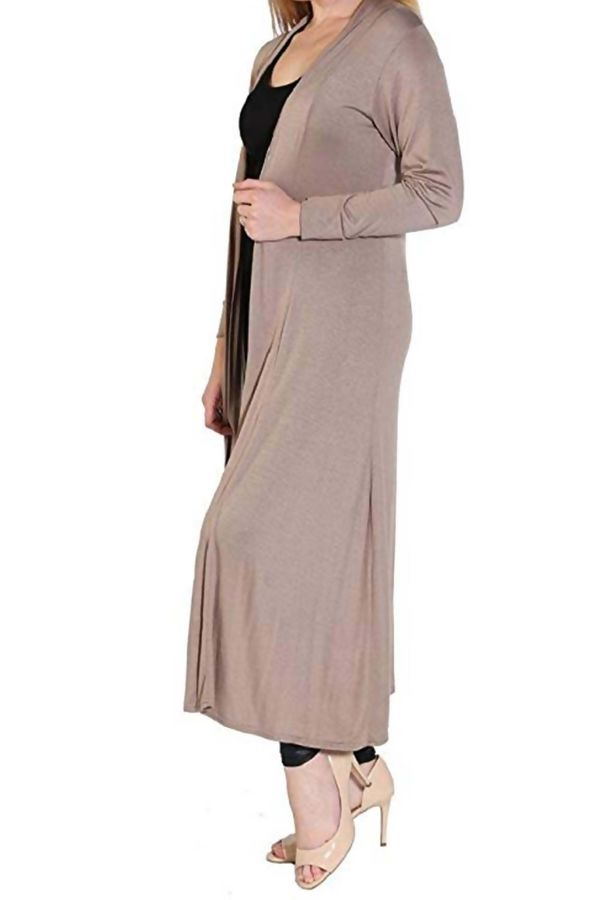 Block Mocha Saima Long Cardigan