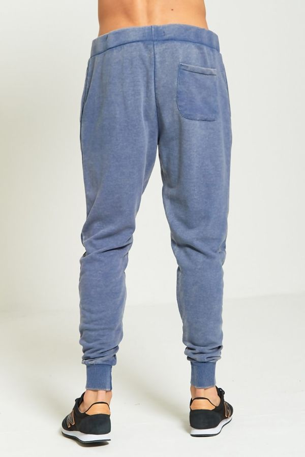 Blue Acid Texture Jogging Bottom