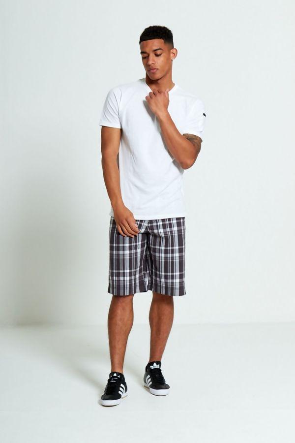 Blue Classic Plaid Shorts