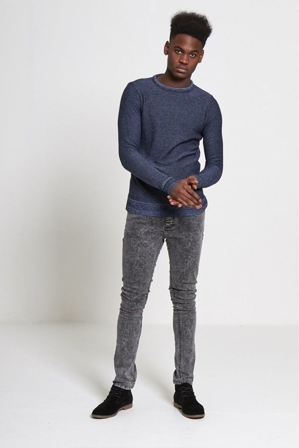 Blue Marl Knitted Jumper
