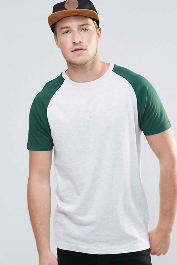 Blue Raglan Short Sleeve T-Shirt
