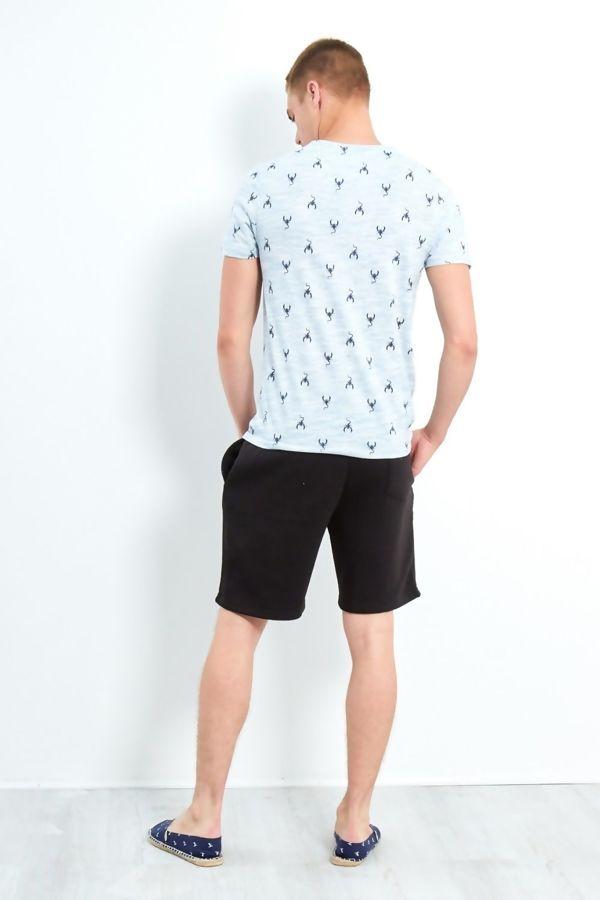 Blue Scorpio Crew T-Shirt
