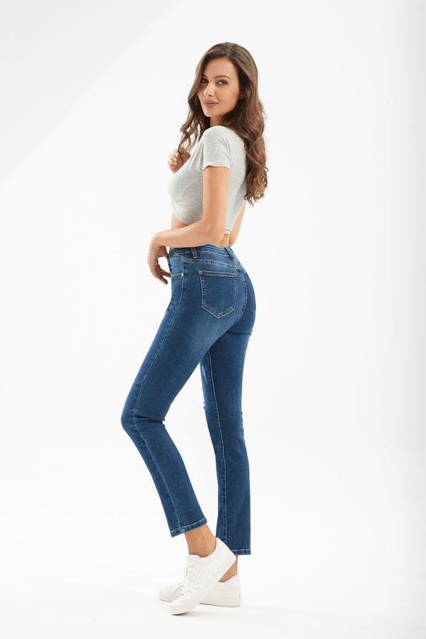 Blue Skinny High Waist Destroyed Jeans