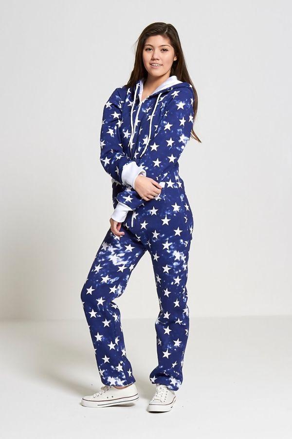 Blue Star Print Onesie