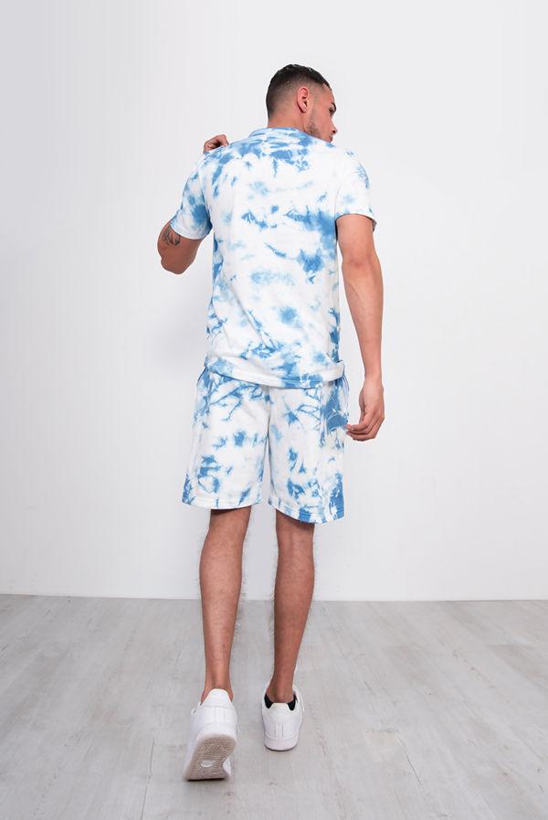 Blue Tie Dye T-Shirt And Short Set