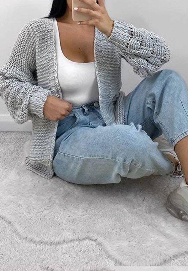 Bobble Knit Cardigan
