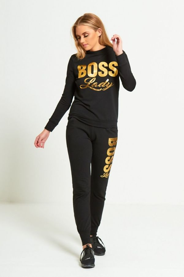Cream Boss Lady Customized Tracksuit