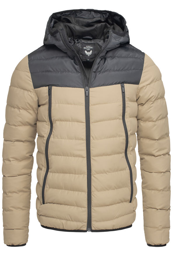 Stone Padded Hood Puffer Jacket