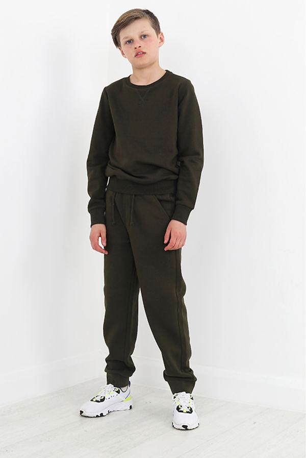 Boys Khaki Sweatshirt And Jogger Set