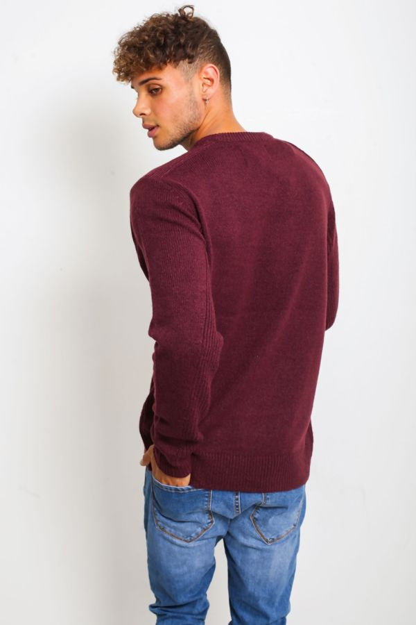 Burgundy Fine Knit Tawn Jumper