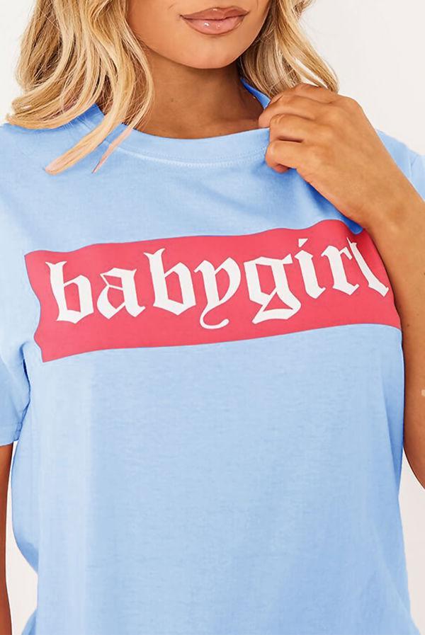 Baby Blue Babygirl Oversized Tee