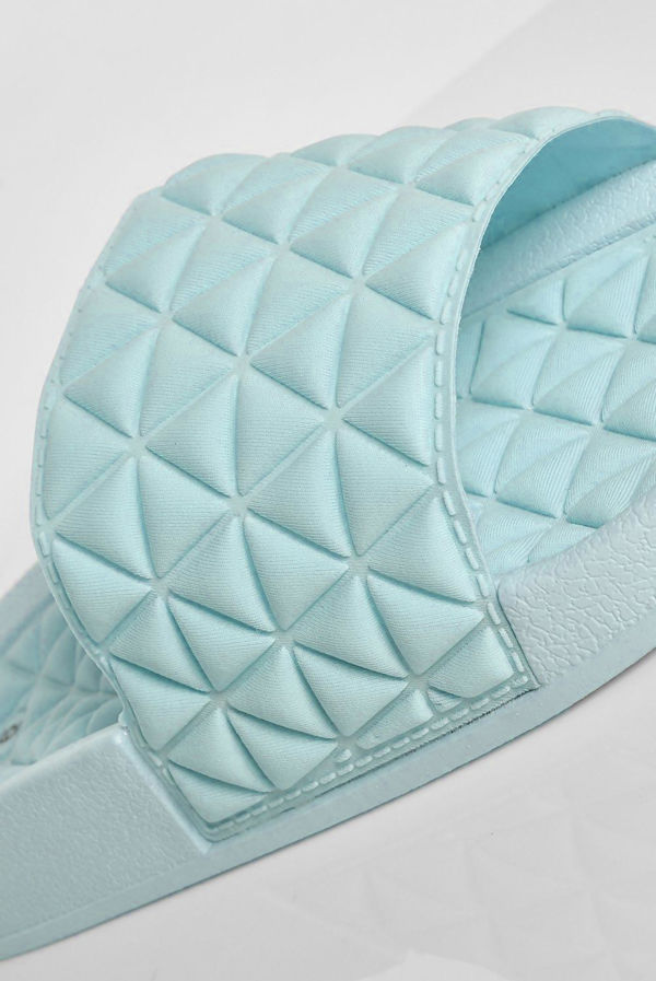 Baby Blue Pyramid Padded Slider