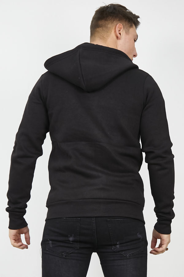 Black American Fleece Zip Up Hoody Jacket