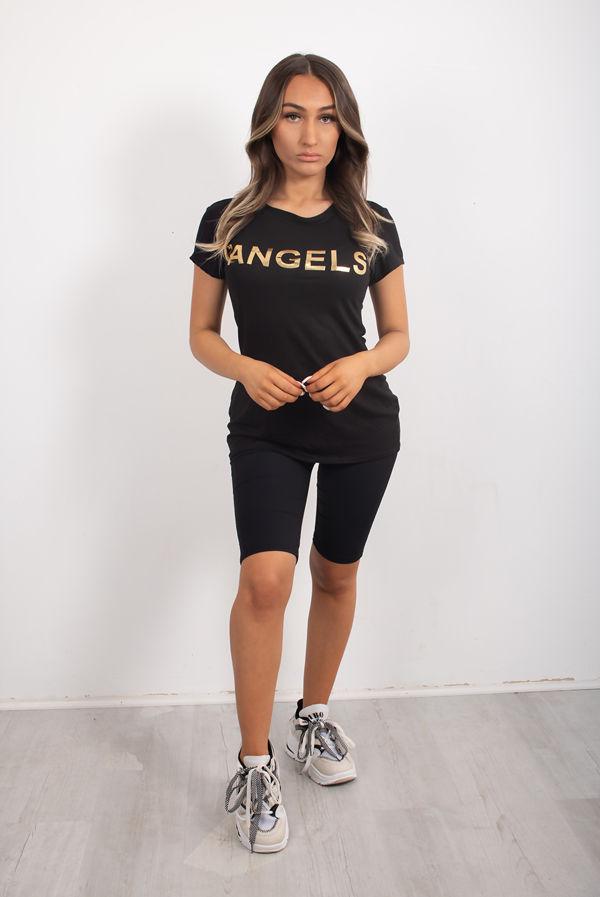 Black Angels Wings Tee