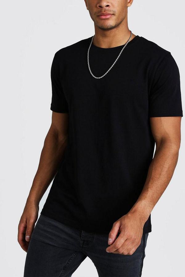 Black Basic Crew Neck T-Shirt