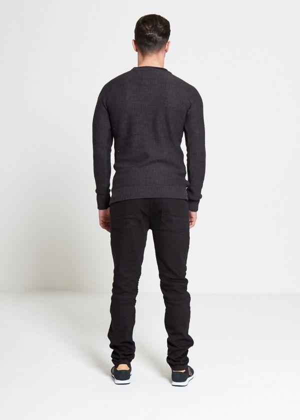 Black Biker Ripped Skinny Jeans