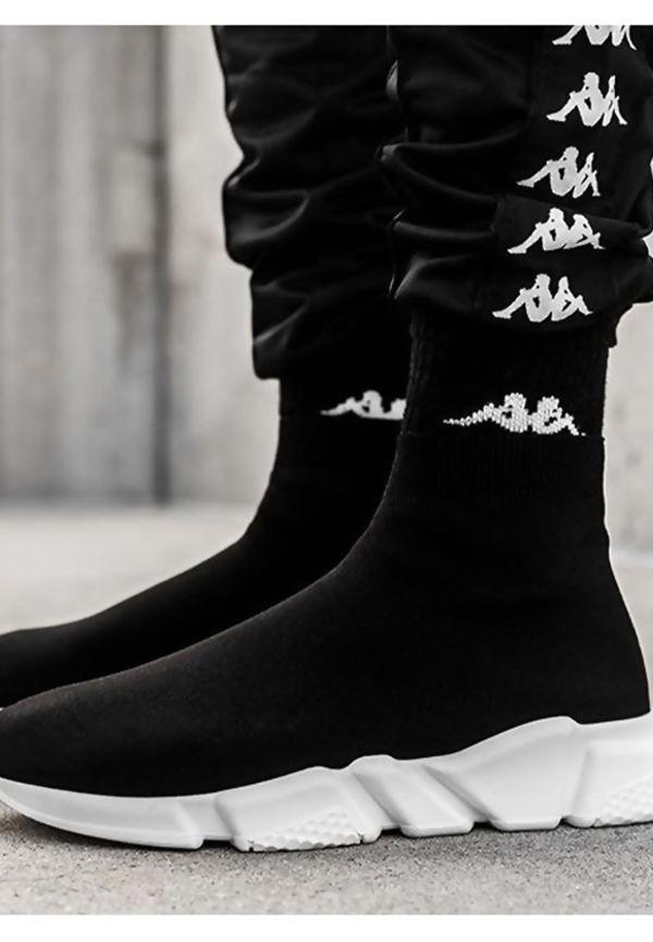 Black Chunky Sole Runner Sock Trainers