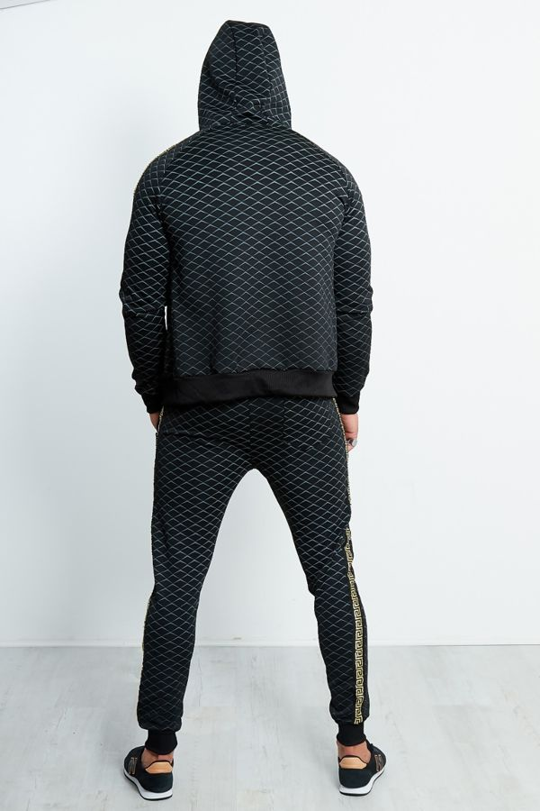 Black Diamond Greek Line Side Detail Tracksuit