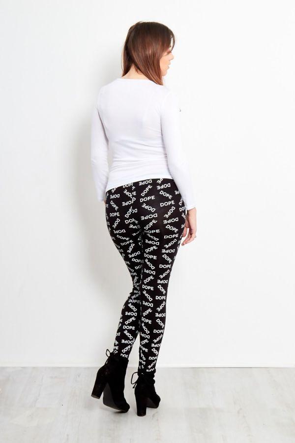 Black Dope Printed Leggings