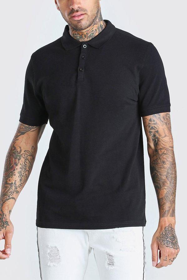 Black Essential Polo Shirt