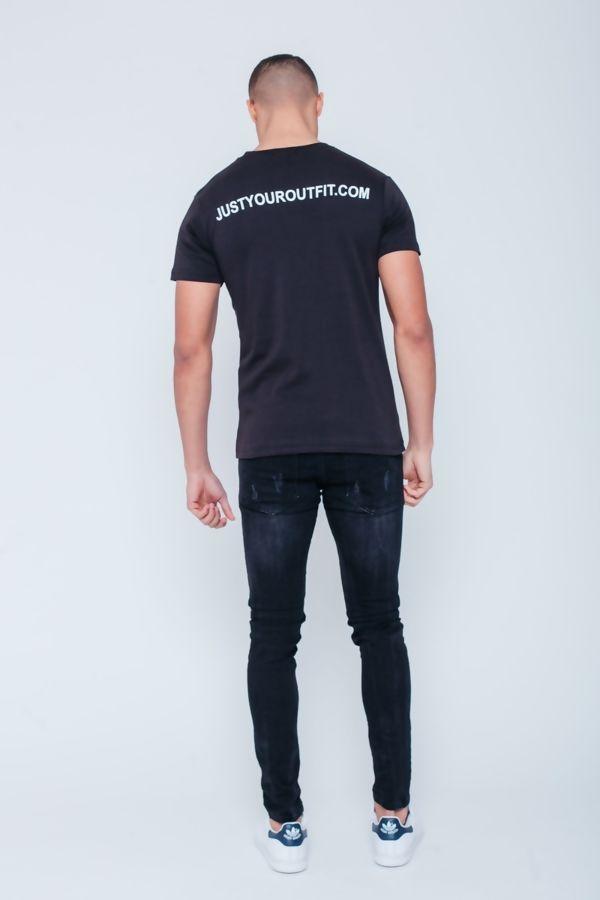 Black JYO Slogan T-Shirt