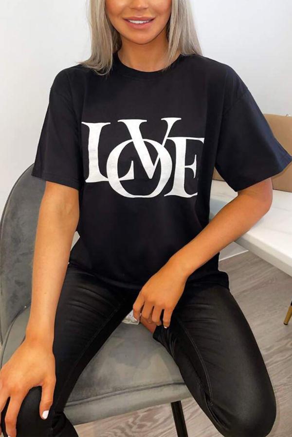 Black LOVE Oversized Tee